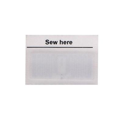 Метка RFID (UHF) вшиваемая фабричная для одежды и текстиля 50х30 мм